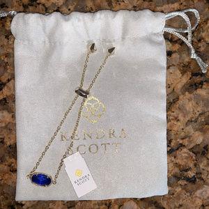 Kendra Scott Cobalt Blue Elaina Adj. Bracelet